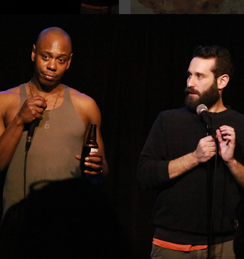 Dave Chappelle and Mike Glazer at Glazed at Hollywood Improv Lab — Photo by Adrienne Harris