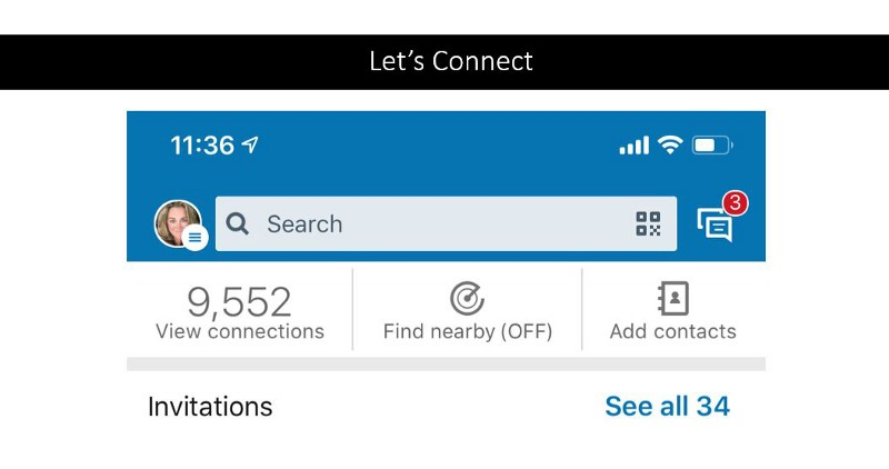 LinkedIN App Find Nearby Feature