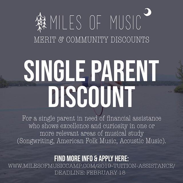 Are you or do you know a single parent who is a musician and interested in songwriting/American folk music/acoustic music?! Apply for the Island 🌴 Camp lottery and submit for the Single Parent Discount! You can attend with or without your child....so if you need some you time, this is the way to go! Deadline to apply is this Monday, February 18. LINK IN BIO.
