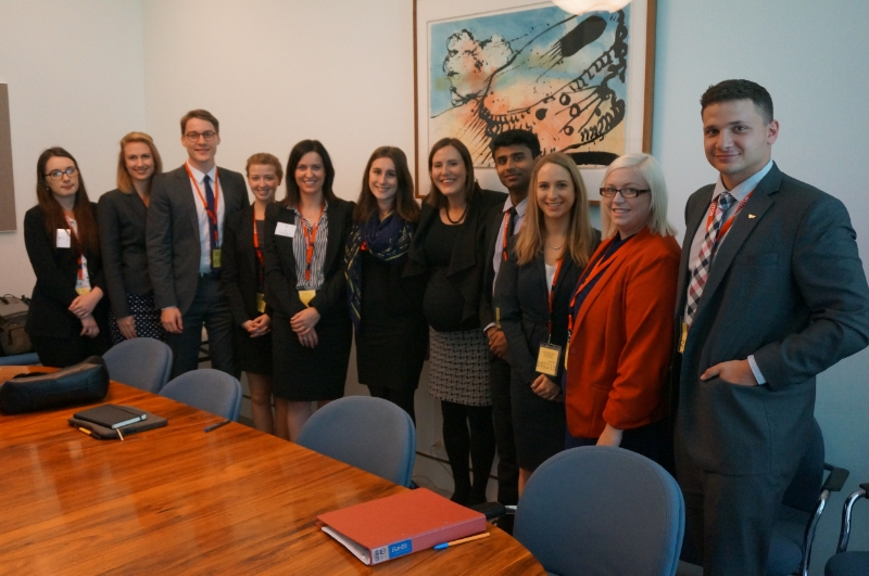 From our archives: The Hon Kelly O'Dwyer MP (Assistant Treasurer and Minister for Small Business) with out Semester One 2015 delegates after a meeting in Canberra.