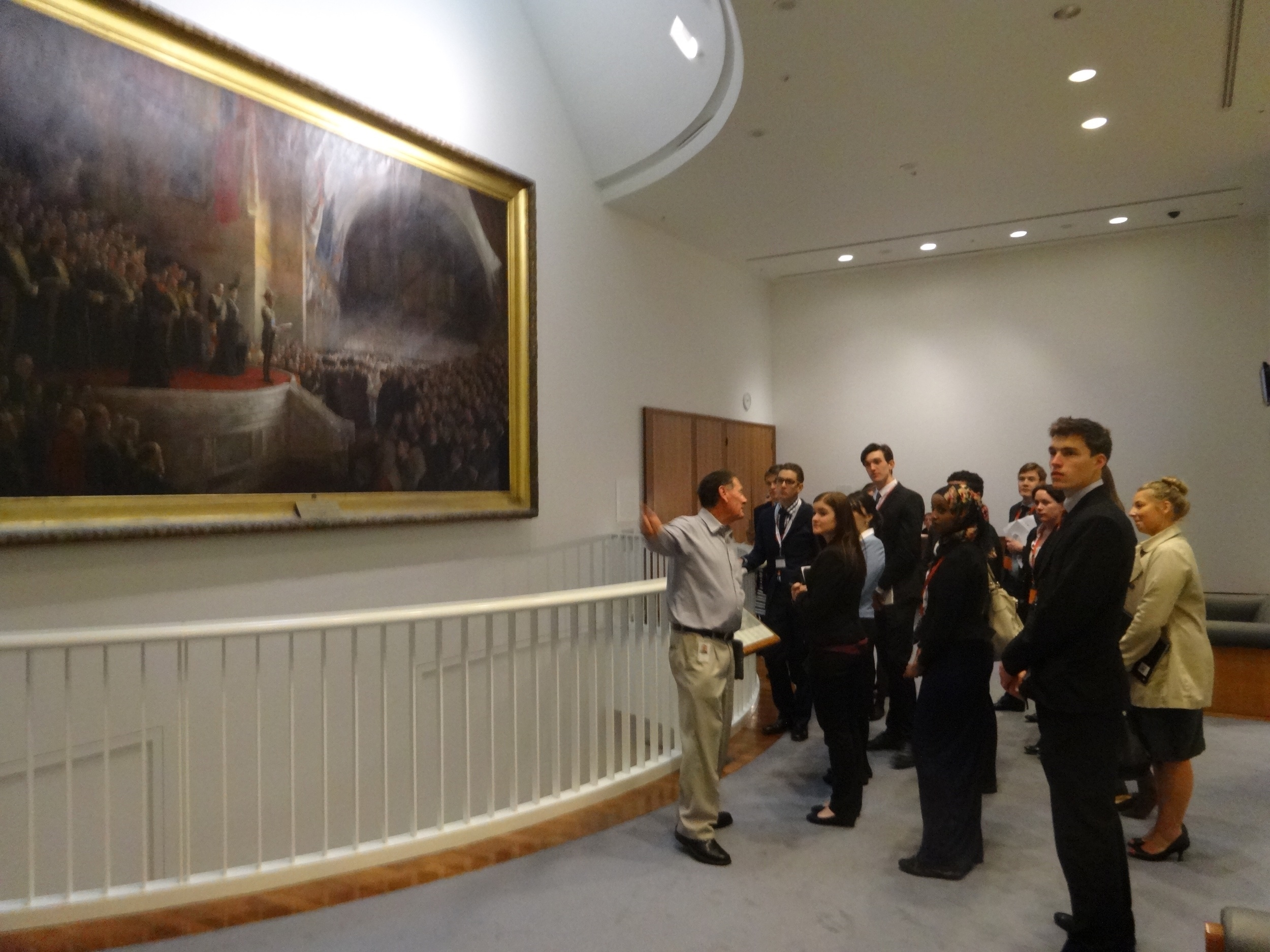 Peter giving one of his famous Parliament House tours for our Semester Two 2013 delegates.