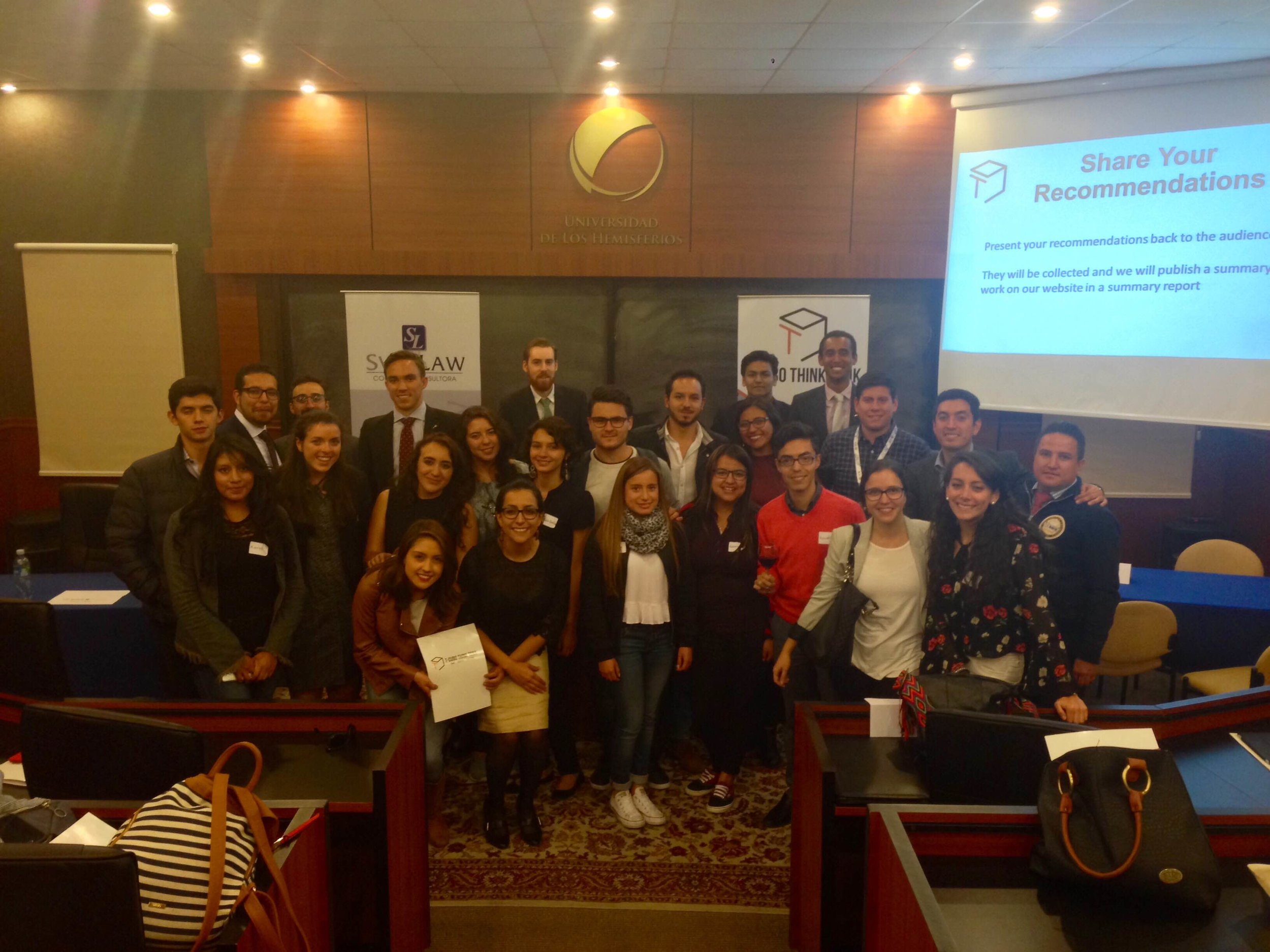 Global Voices delegates with students and experts of T-Cubo think tank