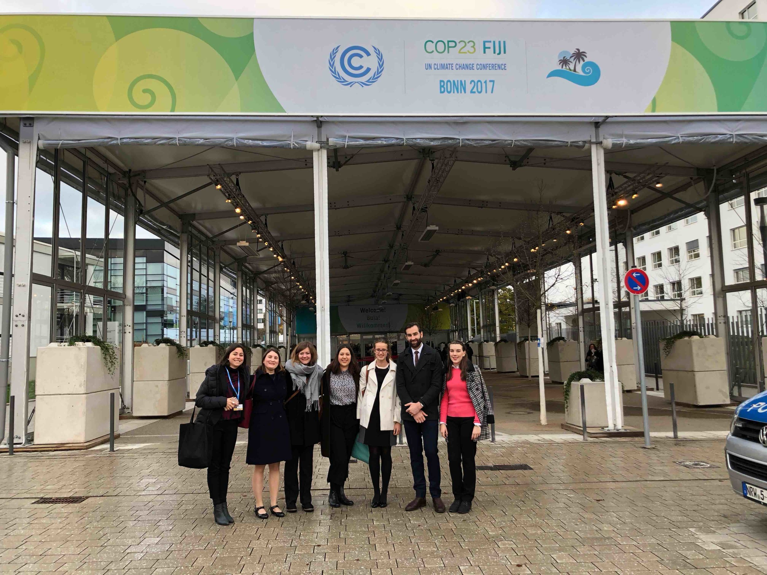 The delegates arrive at the COP23 in Bonn, Germany