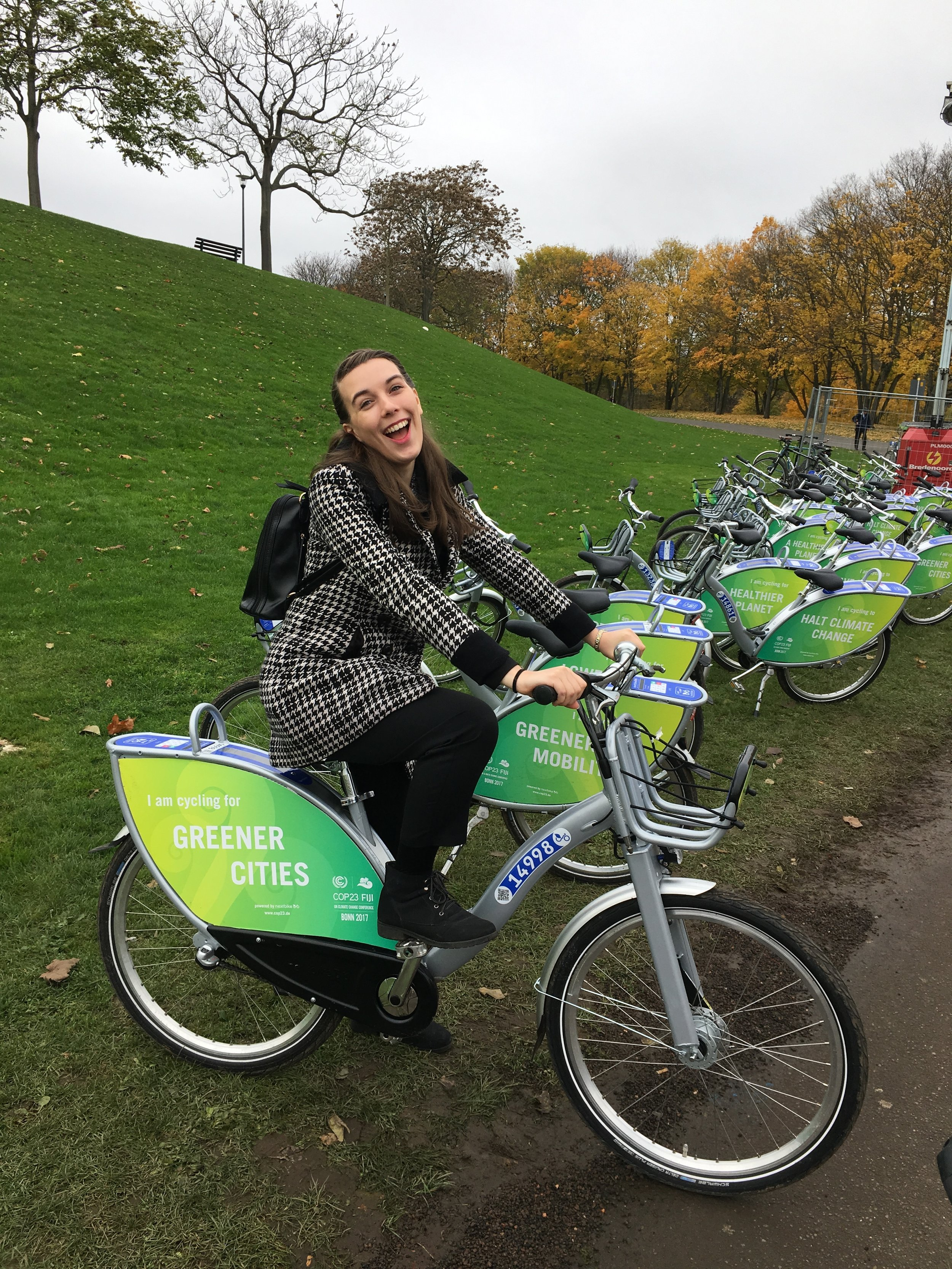 Claire Marie travelling carbon neutral between COP23 conference zones copy.JPG