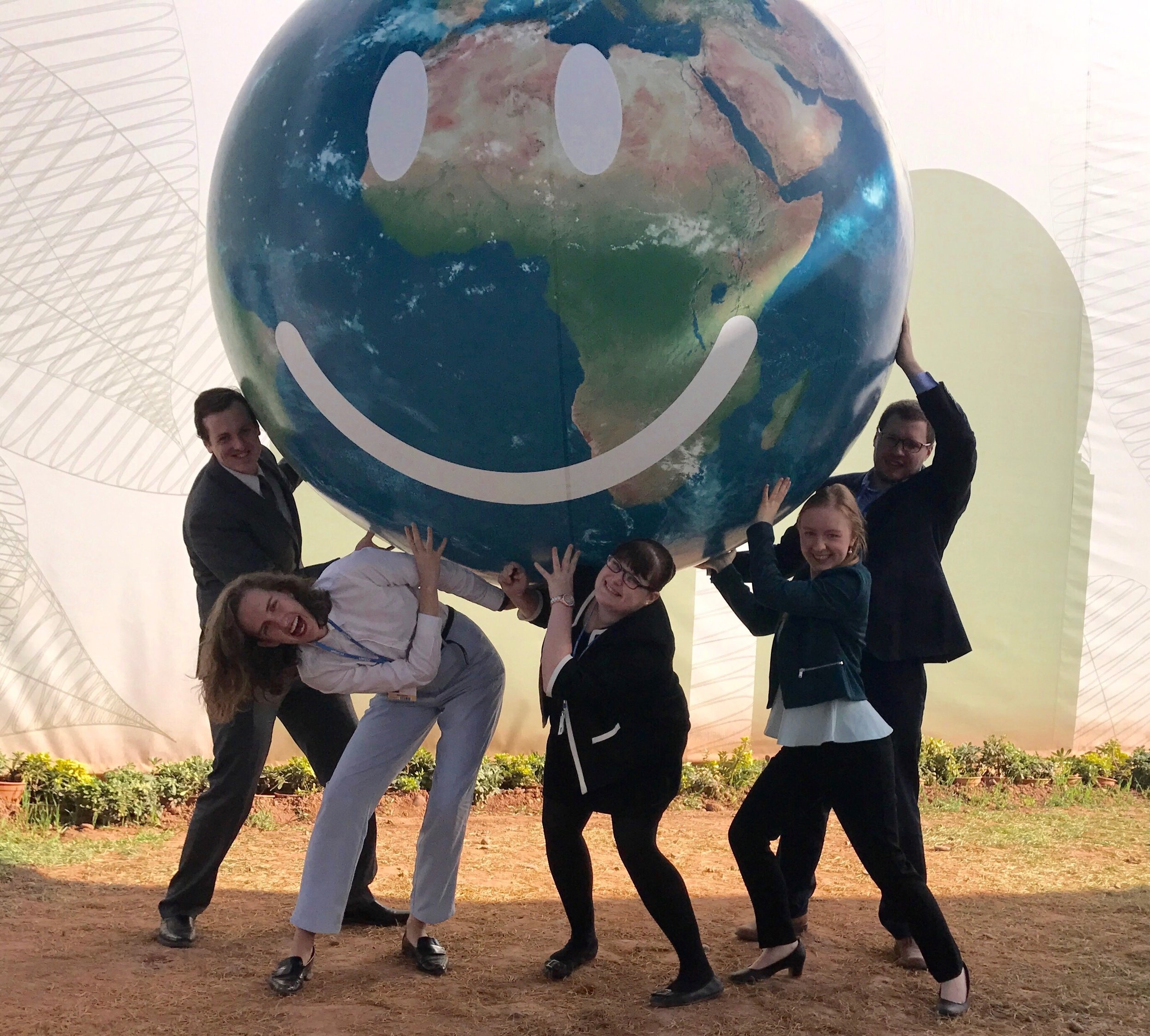 Global Voices COP22 Delegates with the Big Globe copy.jpg