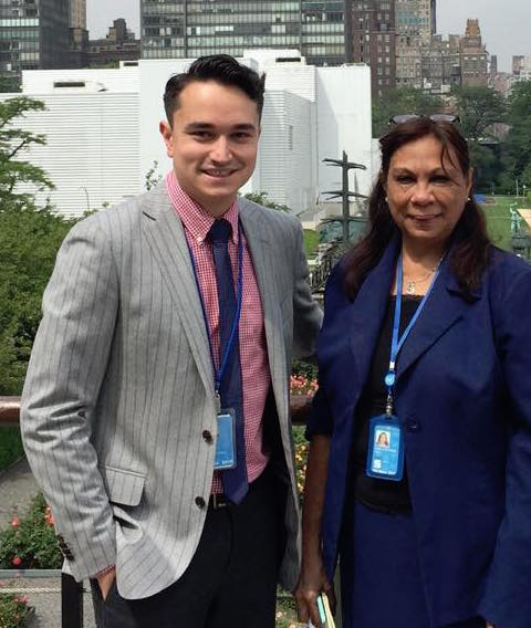 Rona and Matt with Ms Sonya Smallacombe, Secretariat from the Permanent Forum on Indigenous Issues copy.jpg