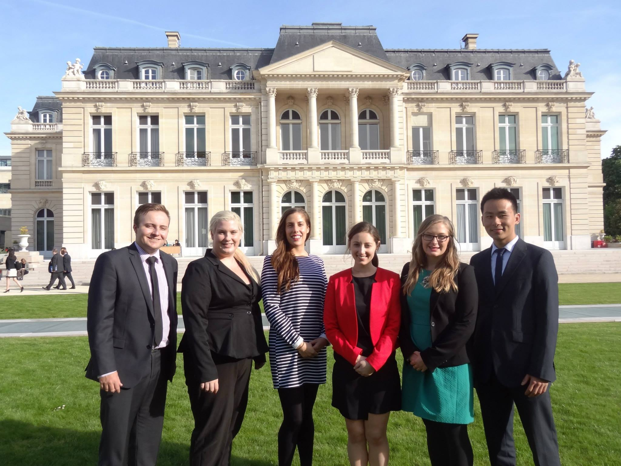 Delegates outside OECD chateau copy.jpg
