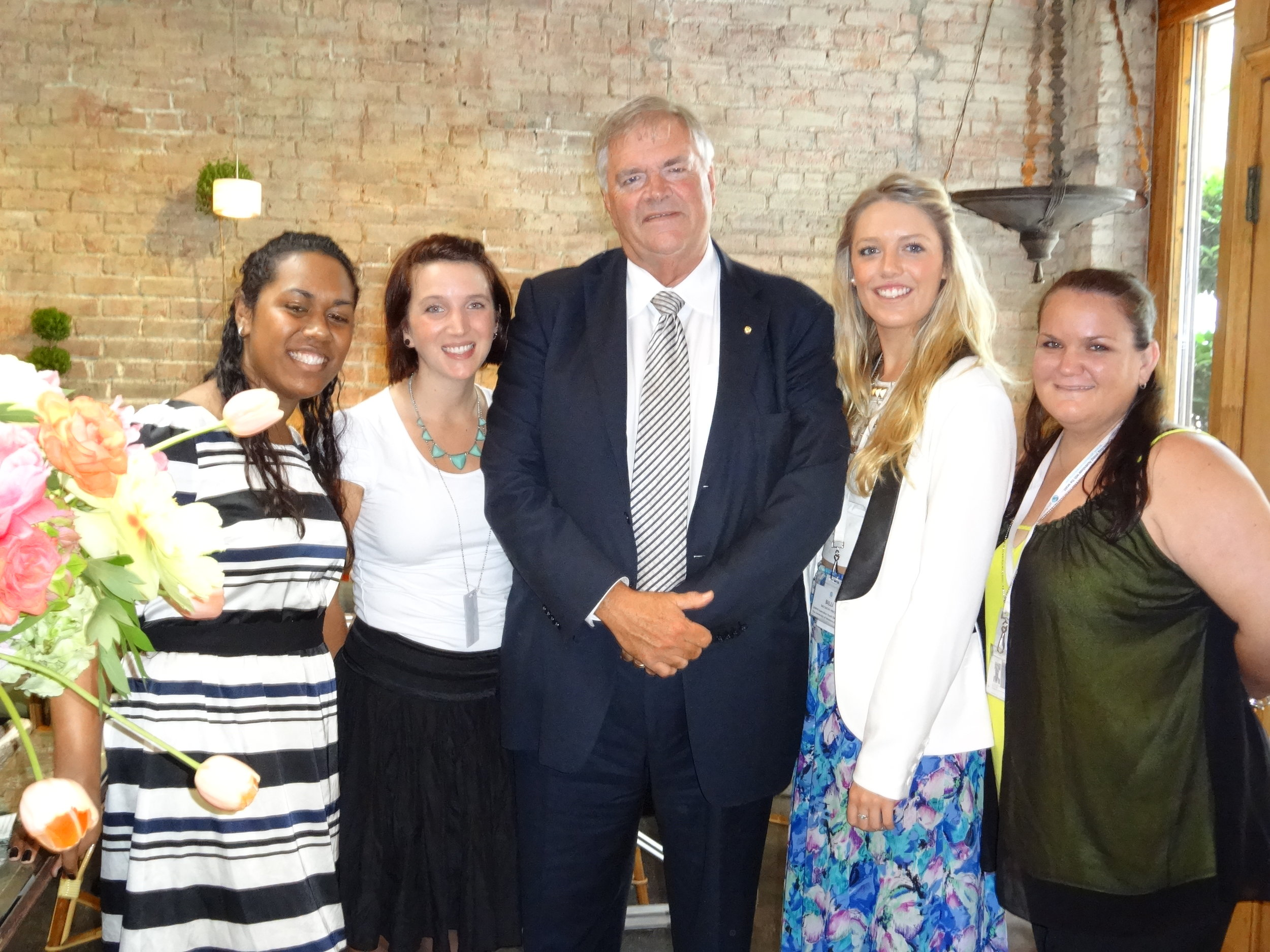 Global Voices UNPFII Delegates with Kim Beazley (Australian Ambassador to US, former Deputy Prime Minister & Opposition Leader) copy.JPG