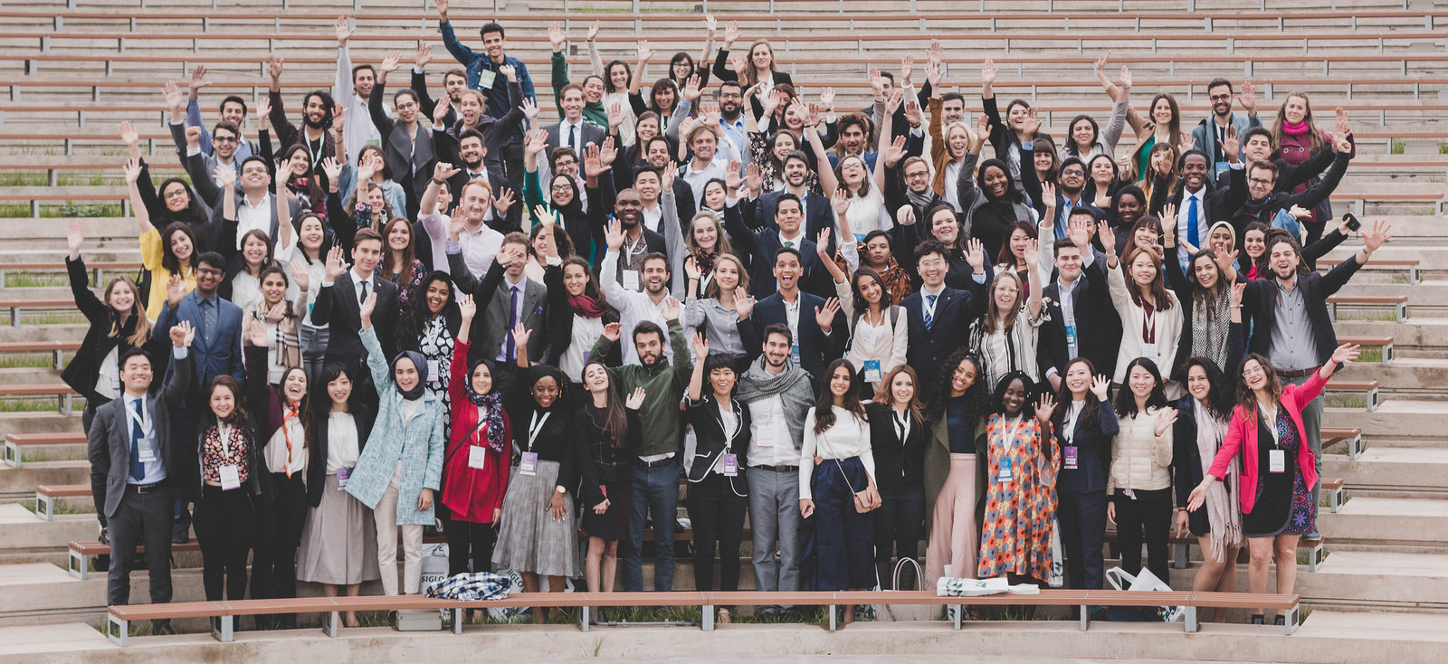 2018 Global Voices National Scholarship Recipient, Jananie Janarthana, with fellow delegates at the Y20 Youth summit in argentina.