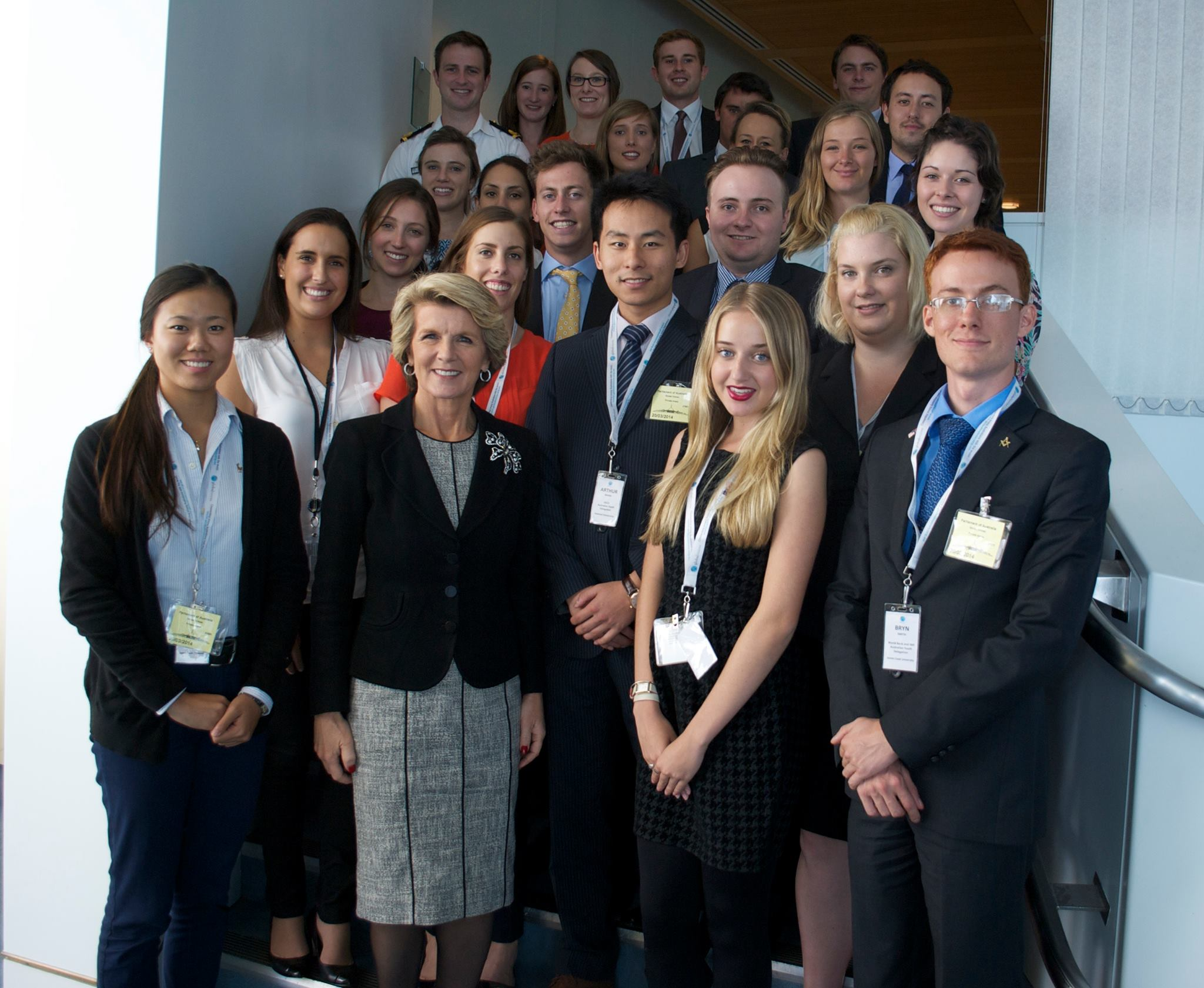 Global Voices Delegates with Foreign Affairs Minister The Honourable Julie Bishop MP copy.jpg