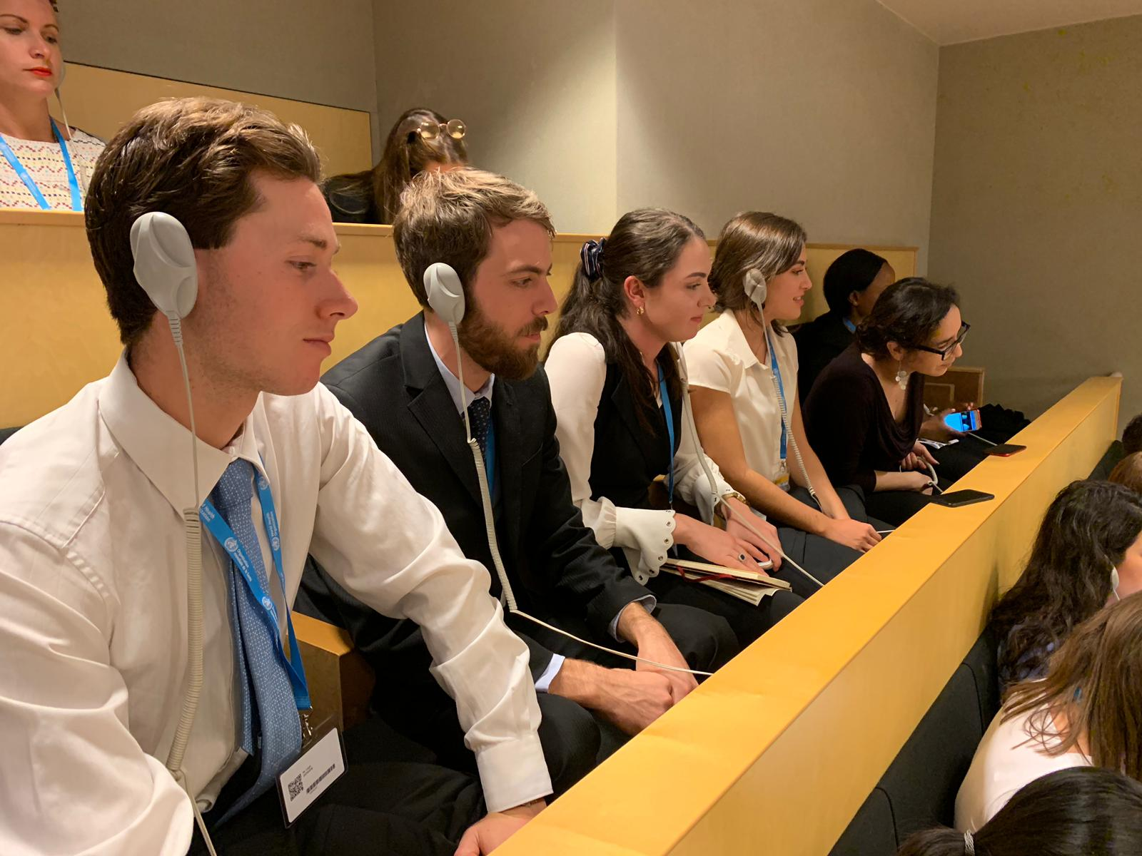 2019 Global Voices Scholars at the 73rd world health assembly.