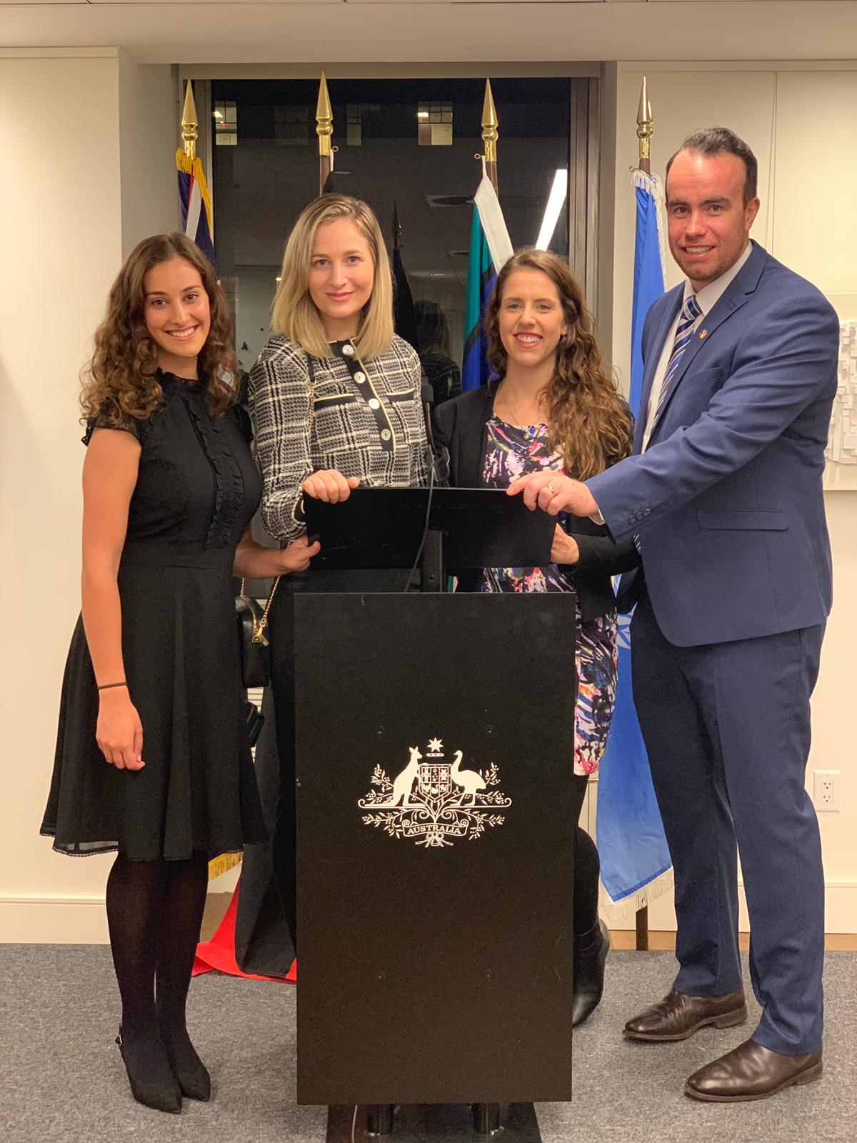 our 2018 GLobal Voices CSW63 Delegation at the australian mission to the un, New York City, USA