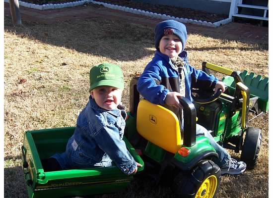 E and S on little tractor 2008.jpeg