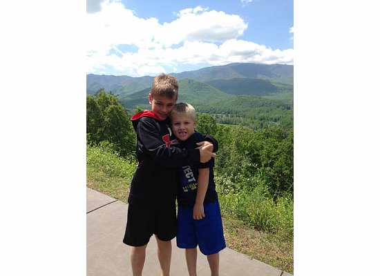 E and S in front of mountains.jpeg