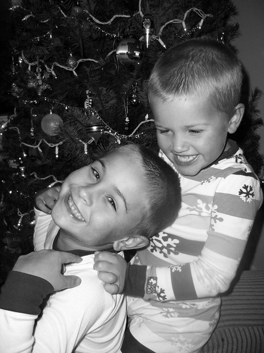 2011 or 2012 Boys by tree after lice.jpeg