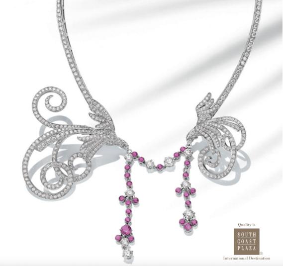 Copy for South Coast Plaza's Fine Jewelry and Timepiece Portfolio .