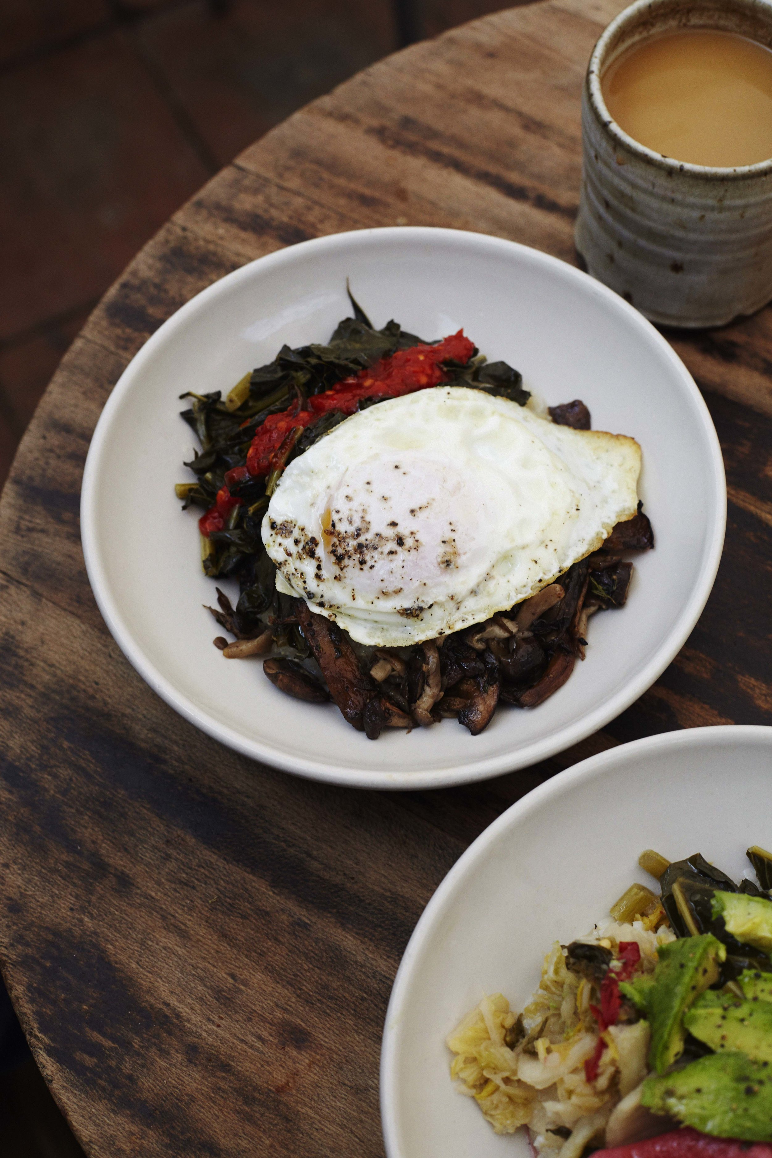 Breakfast bowls and the relaxed patio at one of Emily's favourite LA spots Gjusta in Venice Beach