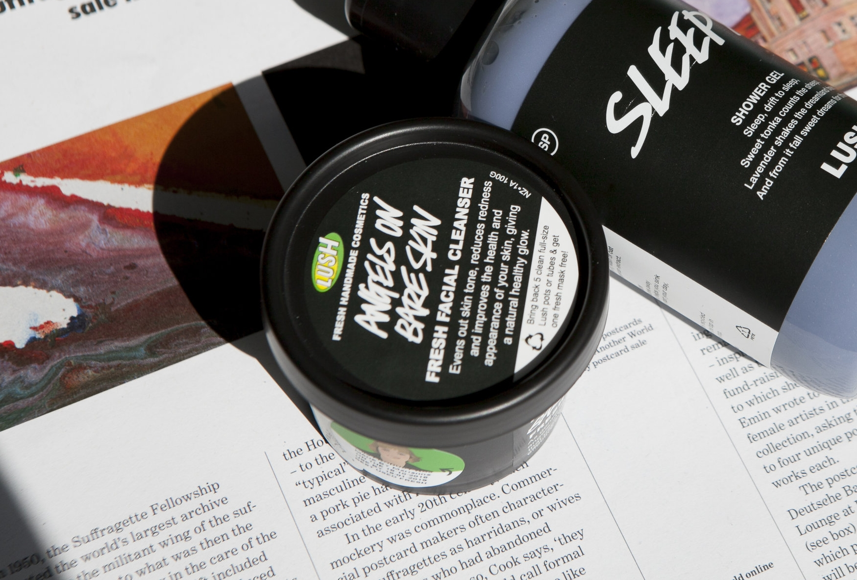 lush angel on bare skin review