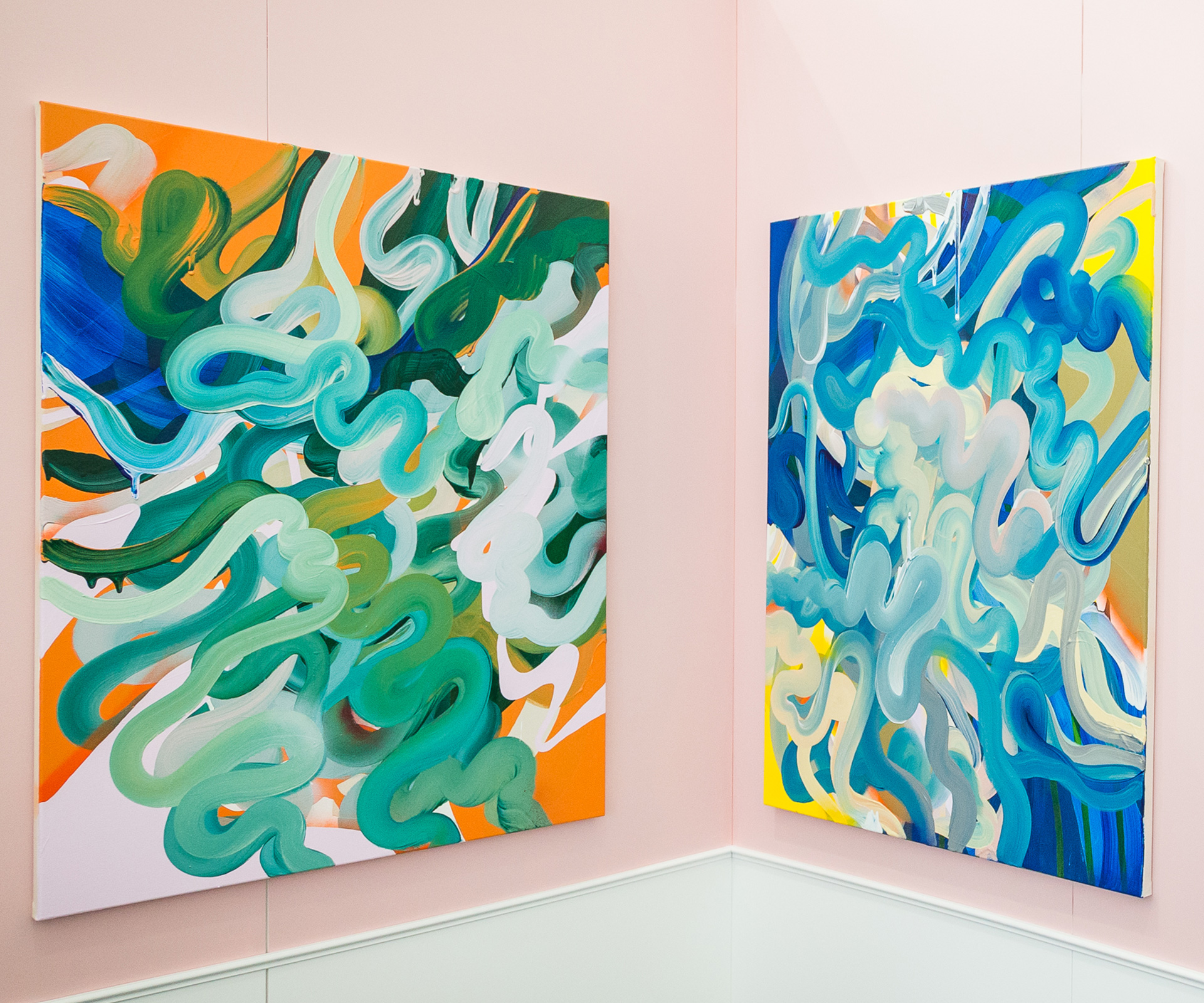 Paintings by Grace Wright at last year's Auckland Art Fair