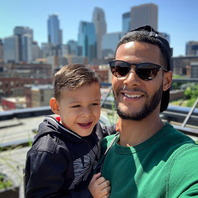 Father's Day Brunch ... #fathersday #rooftopseason #brunch #justthetwoofus #photoadayj #fatherson #minneapolis #summer2019