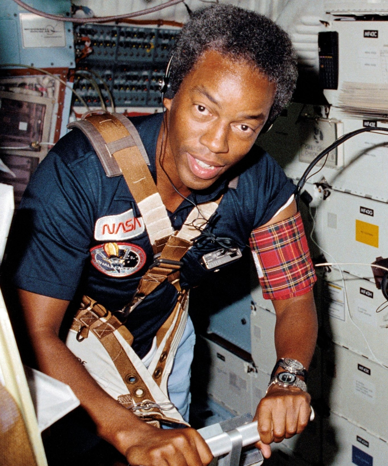 Col. GUY BLUFORD, Ph.D. - You know it's only right that the first African American in space, floating all care-free among the stars, would take off from the birthplace of freedom.  Philly, Philly — Philly is where this man's from!