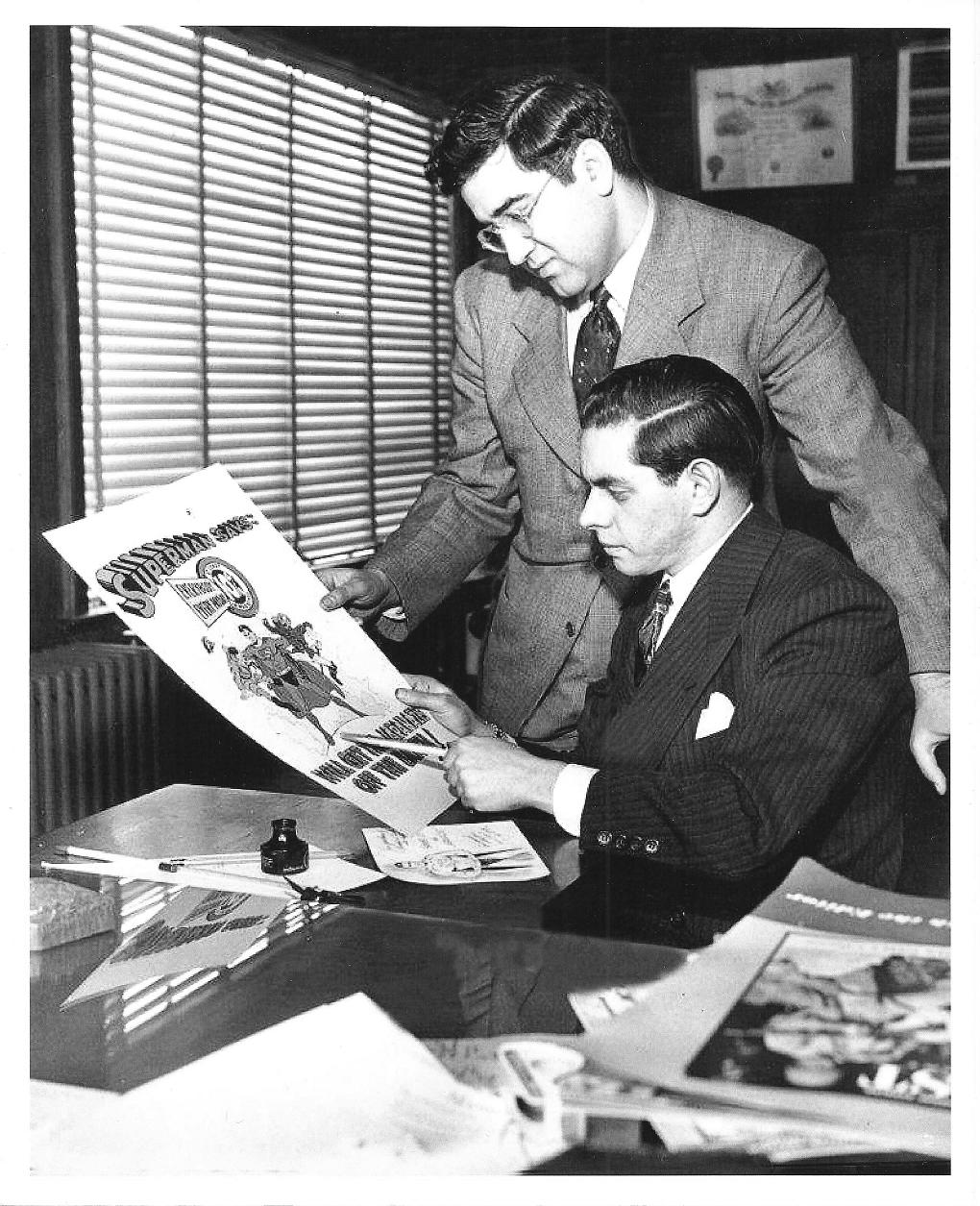 JERRY SIEGEL & JOE SHUSTER - The prolific comic book creators of the genre's earliest days, writer Siegel (1914-1996) and artist Shuster (1914-1992) collaborated in 1938 to create   Superman  , the first great comic book super-hero and one of the most recognizable images of the 20th century.