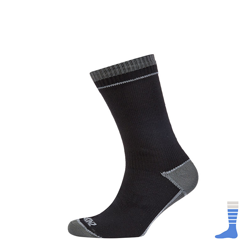 Thin Mid Length Sock (Albatross) - Black.  Photo from sealskin.com
