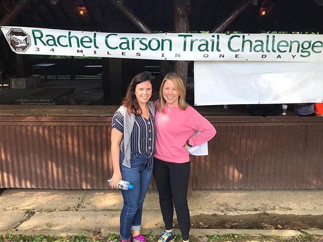 We have checked in! Rachel Carson Trail Challenge here we come... #trailchallenge #35.6 #rachelcarsontrailchallenge #trailchat #getpumped #womenwhohike #outdoorwomen