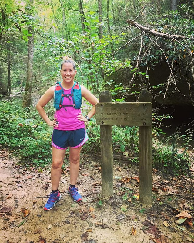 Trying to get into trail running after sitting on my butt for, ohh years now. Forcing Rob to come with me is just a bonus. #thecouplethatrunstogether #thatsit #theyjustrun #ospreypacks #ospreydyna #sheadventures #trailrun #trailrunner #trailrunnermag #brooks #runhappy