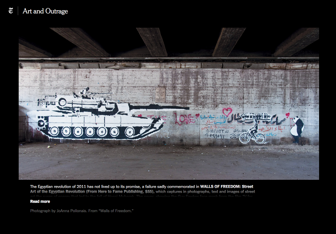 New York Times  - Walls of Freedom - October 2014 -  Art and Outrage