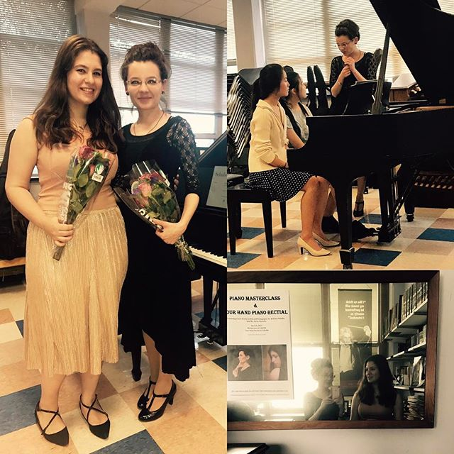 From yesterday's concert and masterclass... It was an honor to work with the students of such a dear friend!  #pianistlife #friendsfornineyears