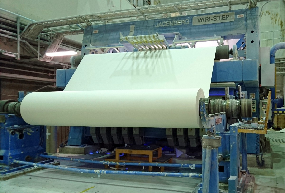 Paper production at the Arctic Paper's Munkedal mill (photo by the author)