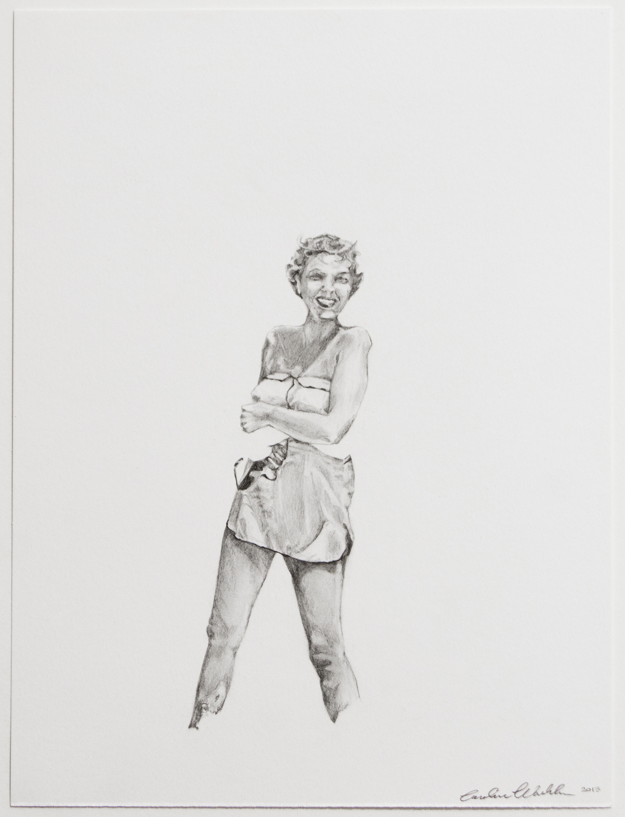 "Joyce,  2013   Graphite on paper   12"" X 9"""