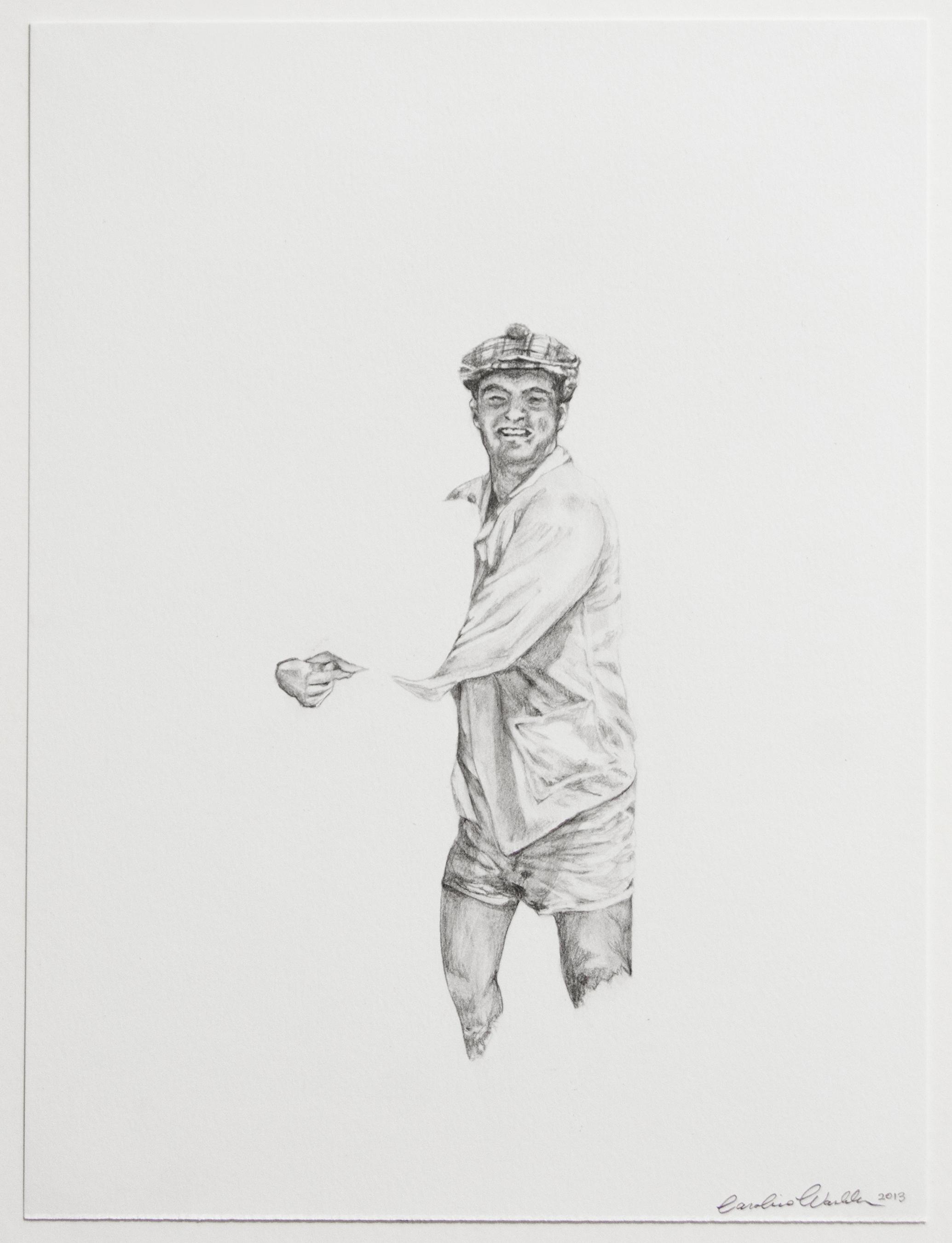 "Lester, 2013   Graphite on paper   12"" X 9"""