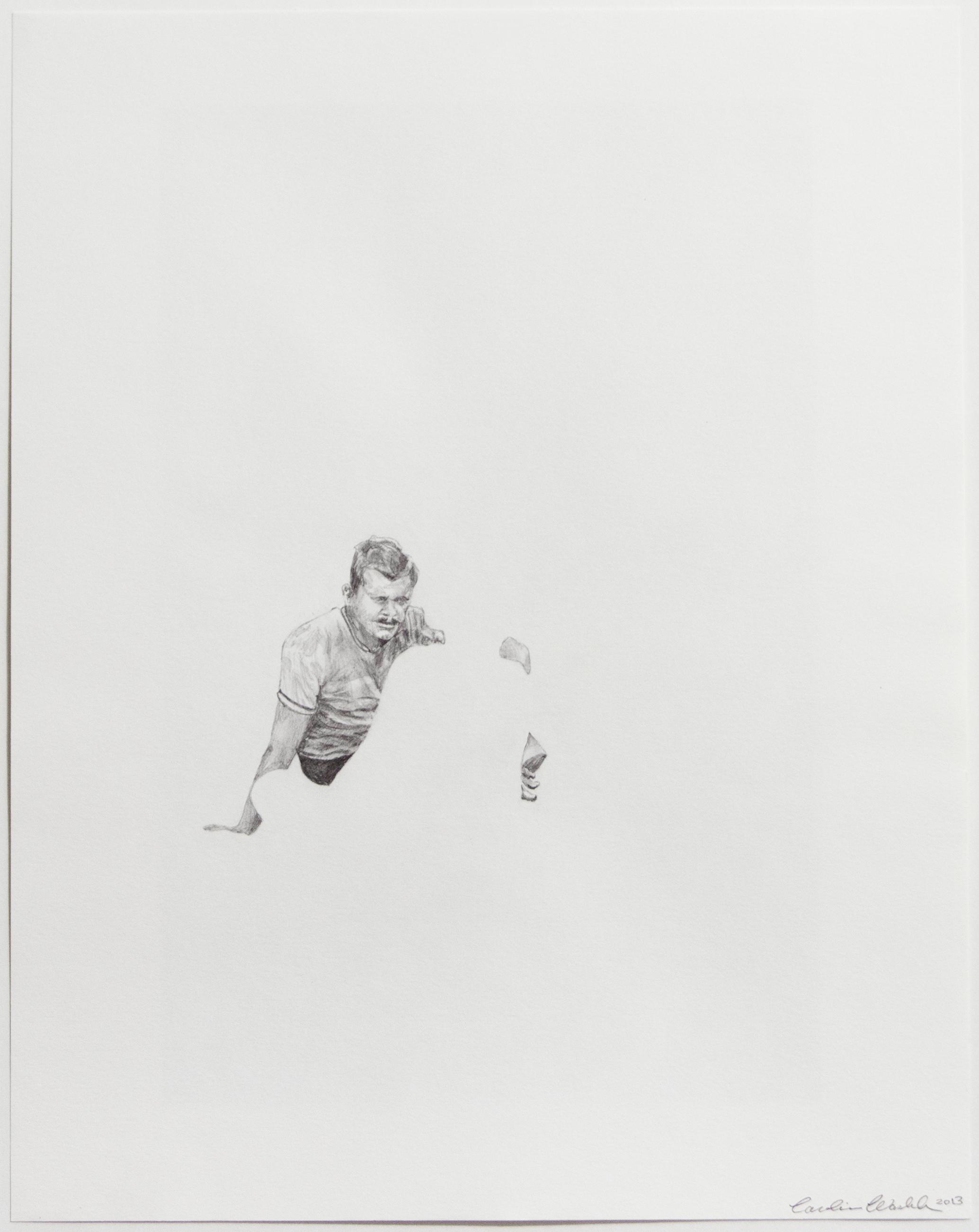 "Dearest I, 2013   Unknown, graphite on paper   14"" X 11"""