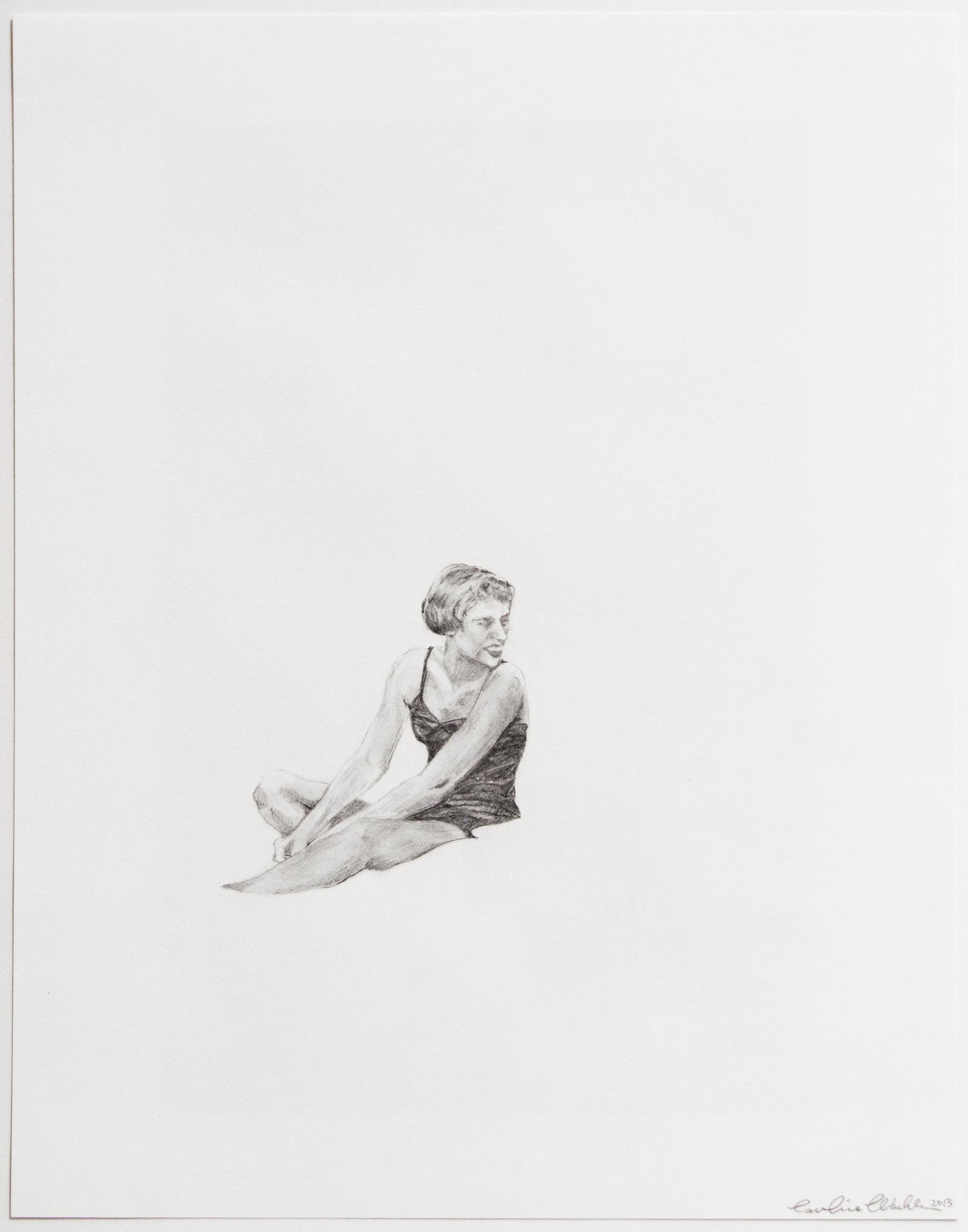 """Dearest II, 2013   Joyce, graphite on paper   14"""" X 11"""""""