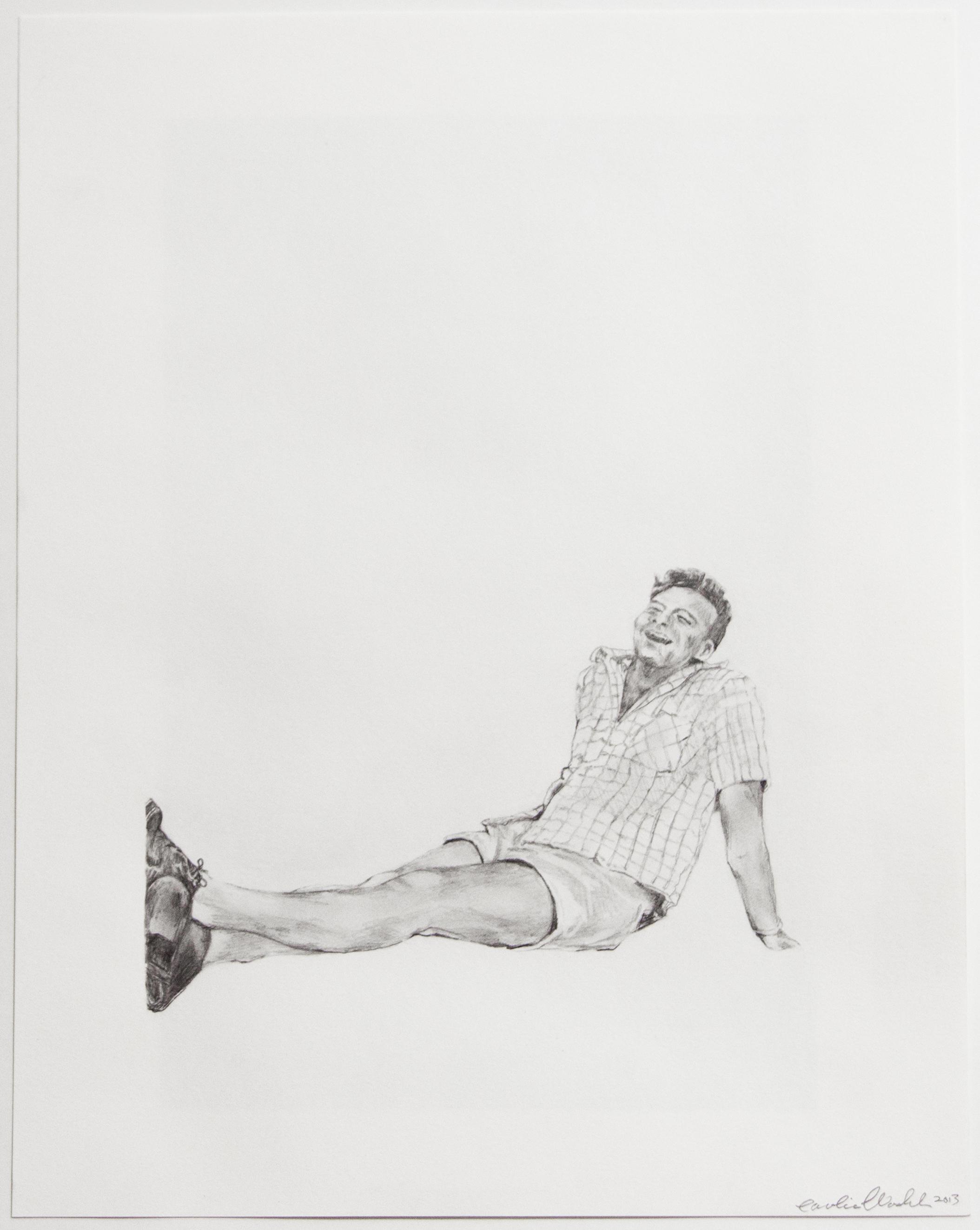 "Dearest III, 2013   Lester, graphite on paper   14"" X 11"""