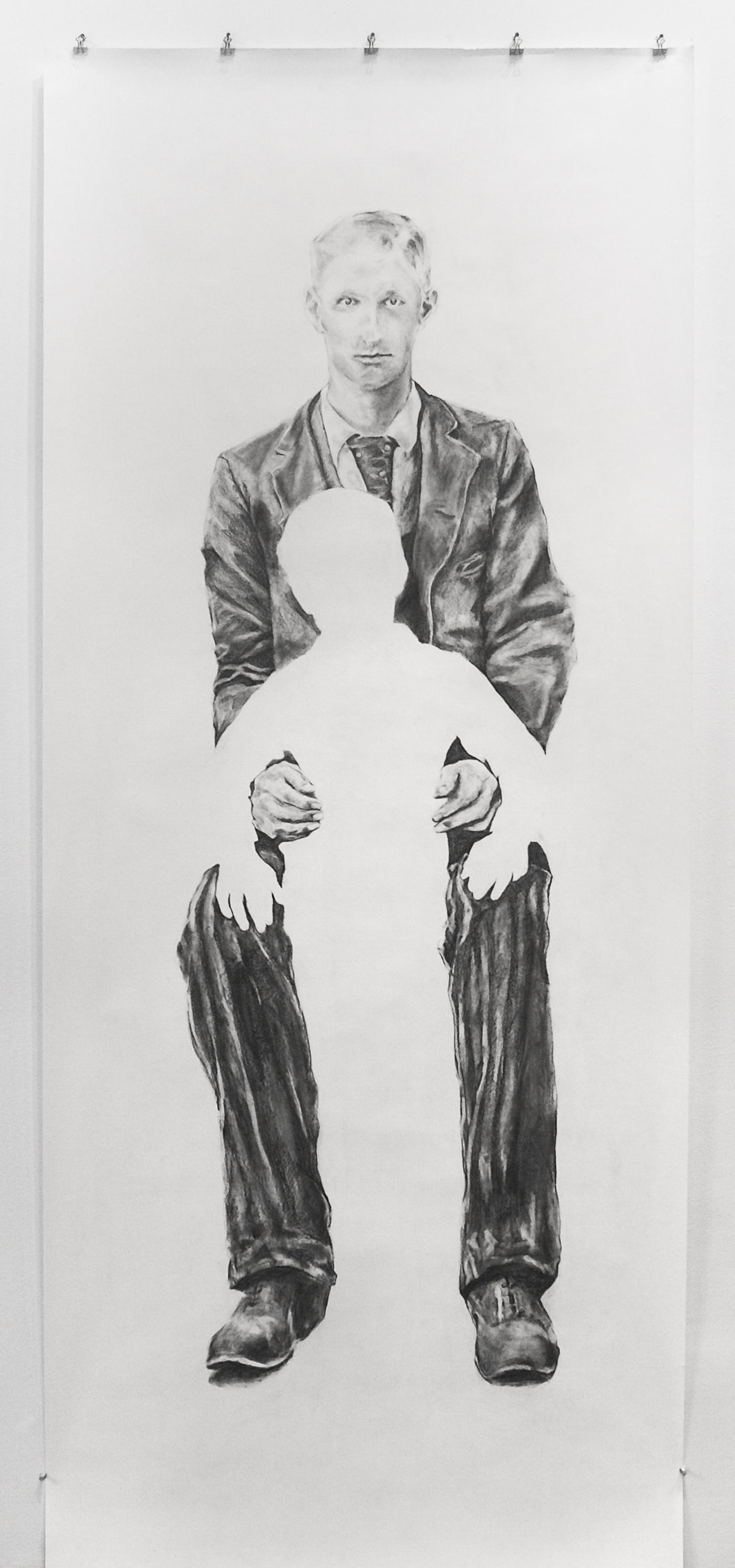 "Visual Heritage, 2012   John, graphite on paper scroll   84"" x 36"""