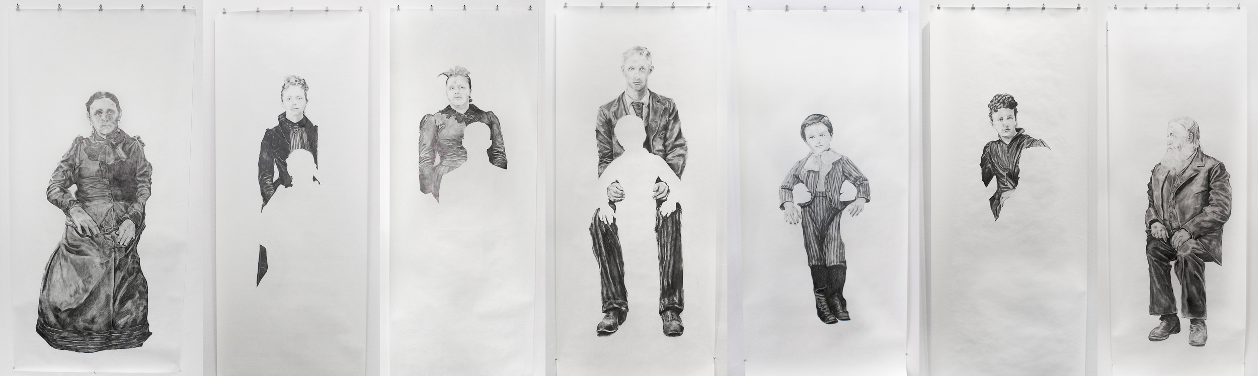 Visual Heritage, 2012   Composite image, graphite on paper scroll