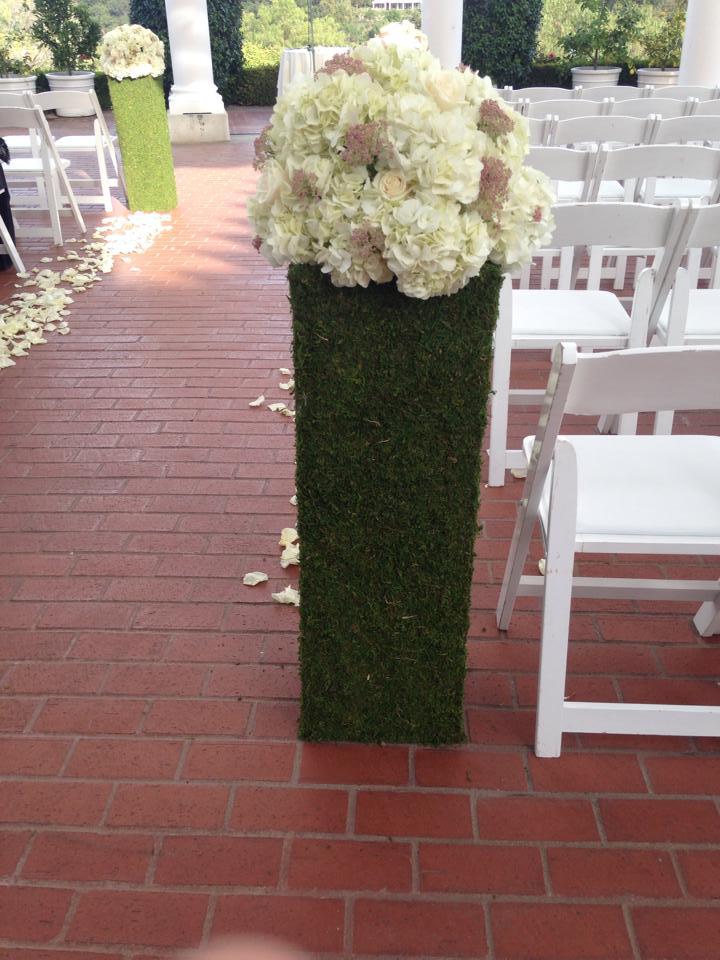 Moss Pillars -- $25 each