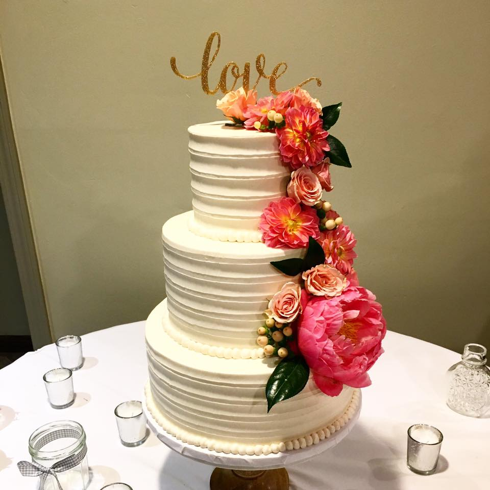 Wedding cake accent flowers
