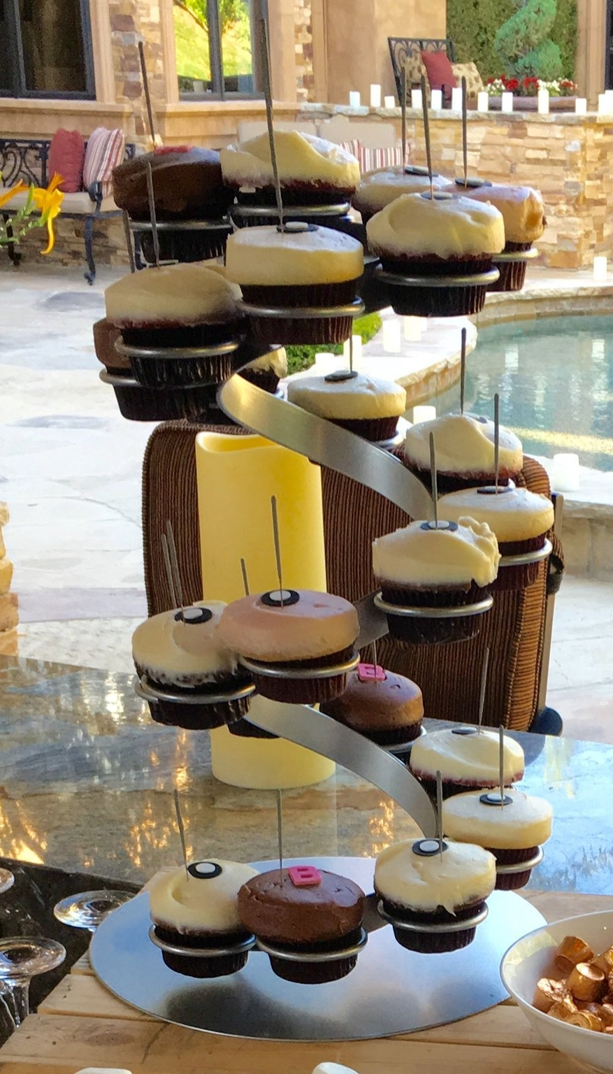 Twirled Cupcake Stand -- $25