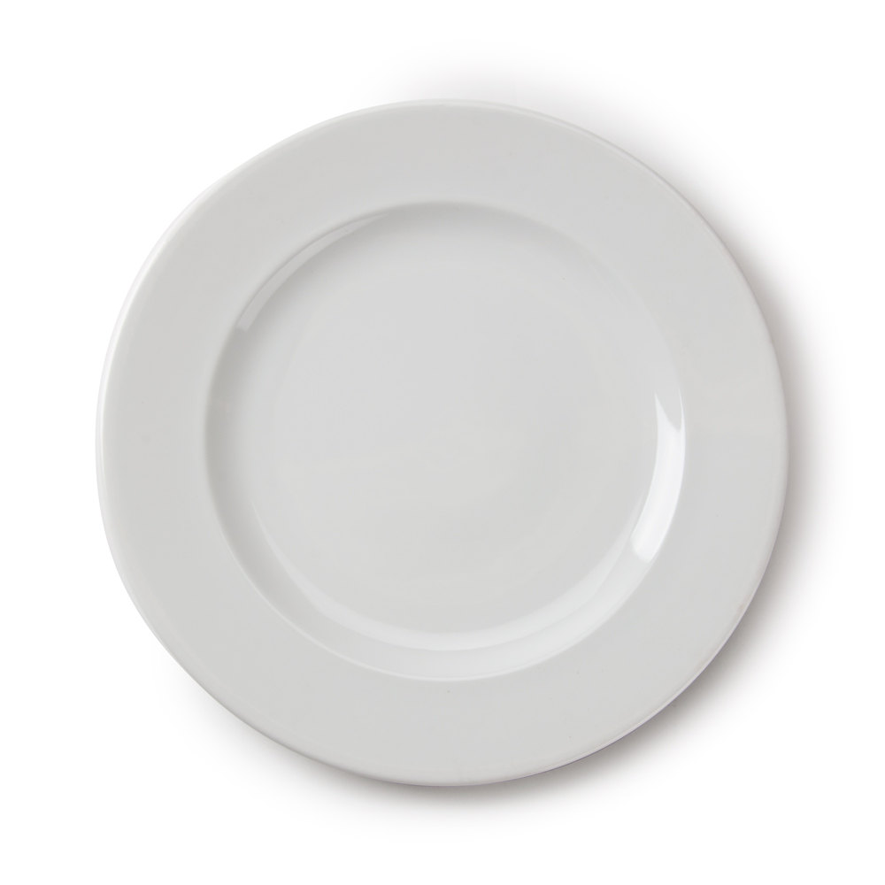 White Ceramic Plates -- $1 each