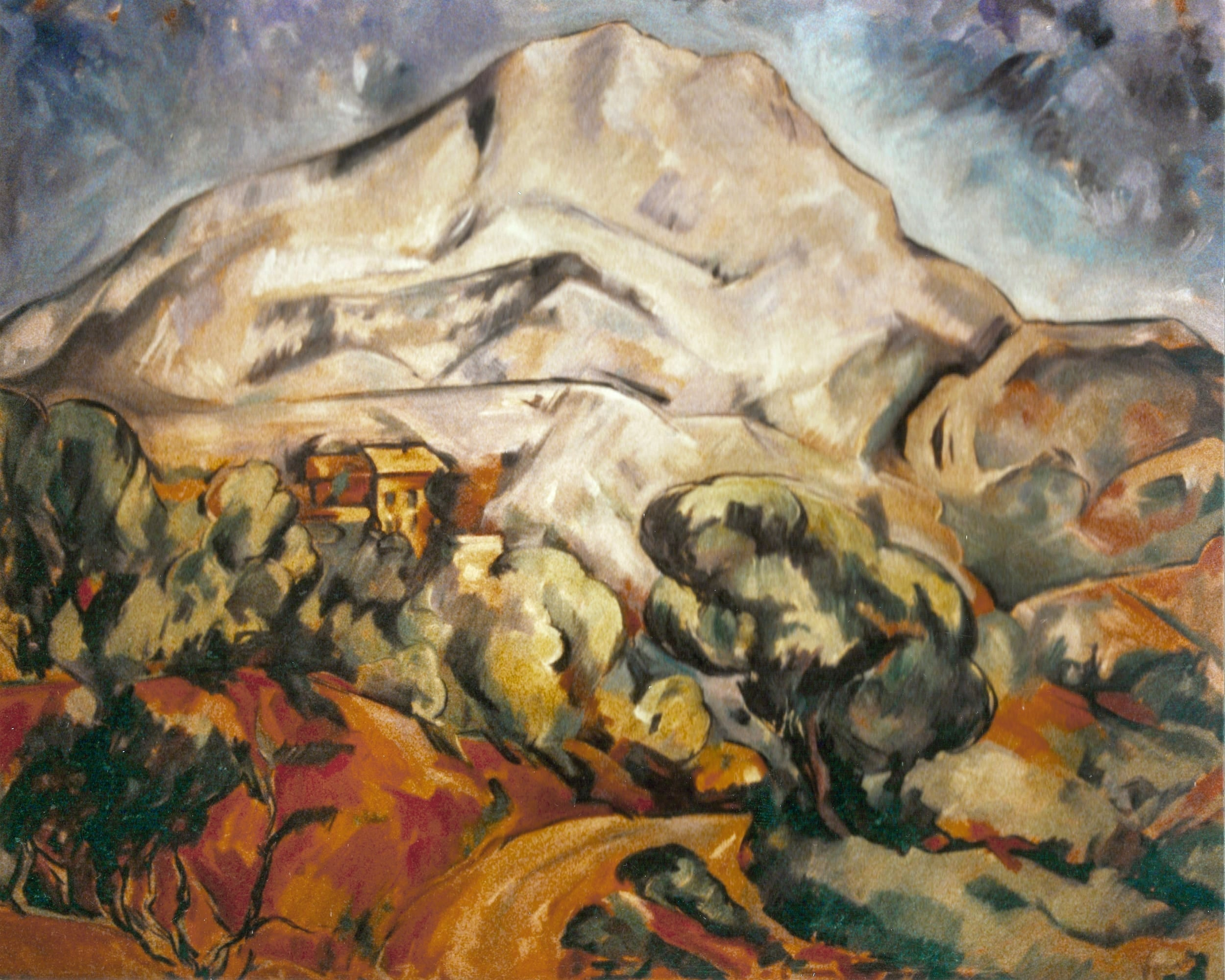 The Mont Sainte-Victoire, 1900 by Paul Ce'zanne