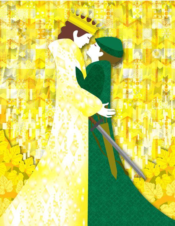 Illustration from The Twelve Huntsmen by  Birgit Amadori
