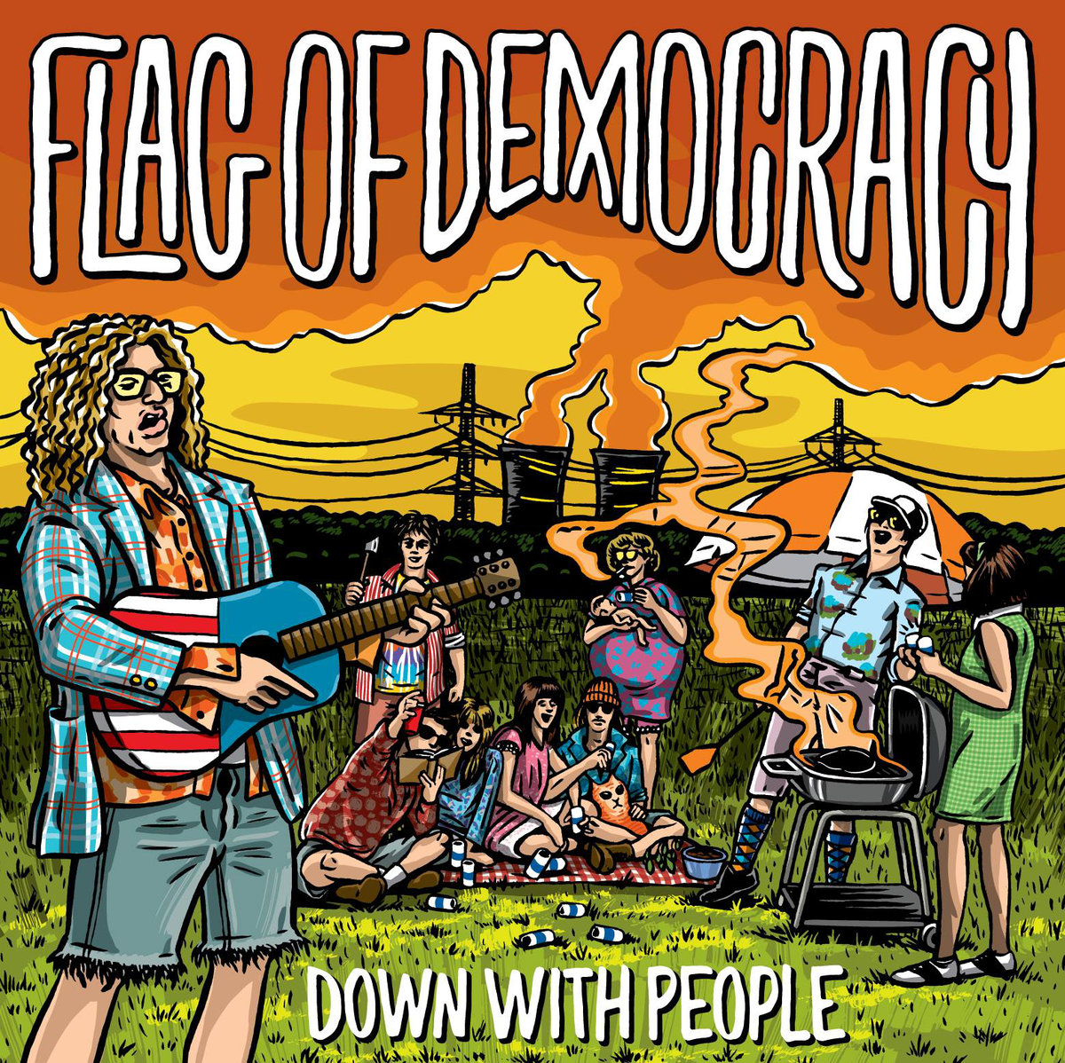 Flag Of Democracy • Down With People (Reissue)