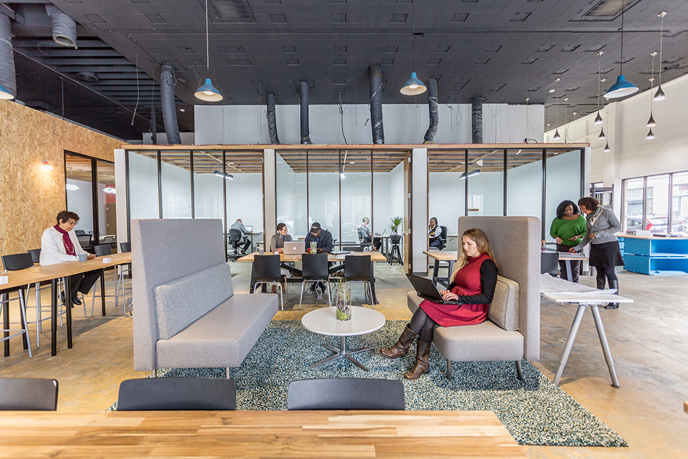 Drop-in Desk Area and Private Offices