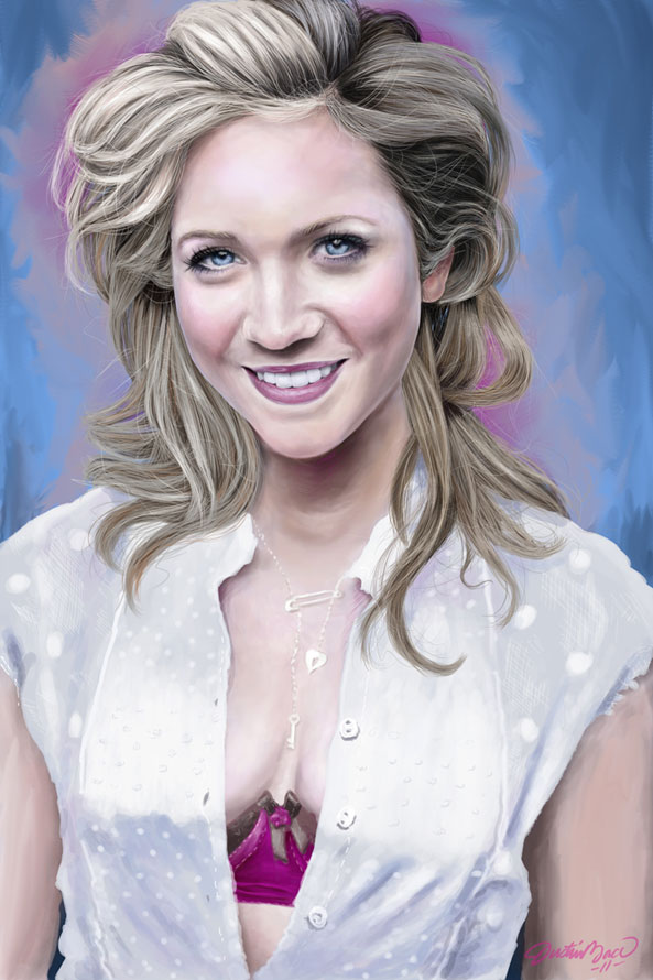 Brittany Snow, 2011, Digital Painting