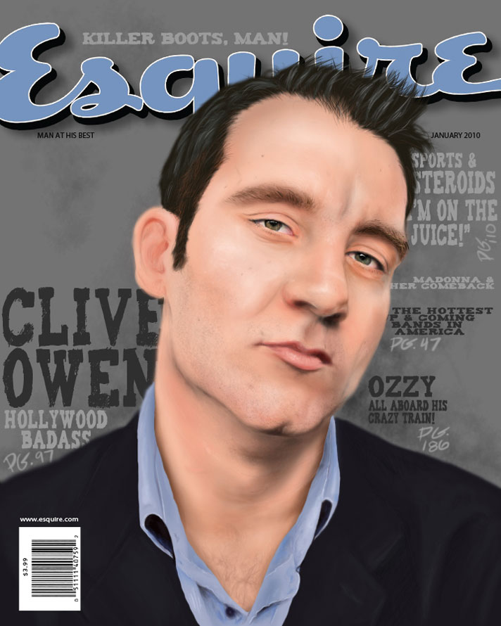 Clive Owen, 2010, Digital Painting