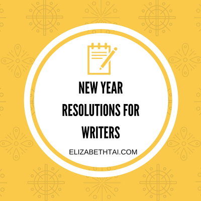 New year resolutions for writers